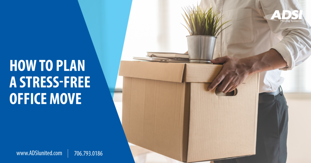 how to plan a stress free office move