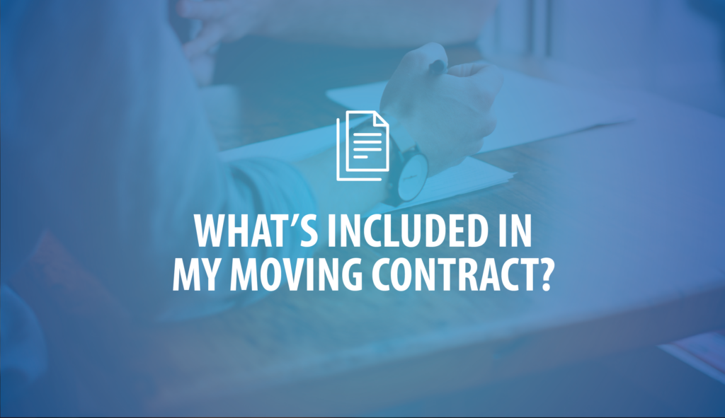 What's included in my moving contract? Blog header image, ADSI Moving Systems