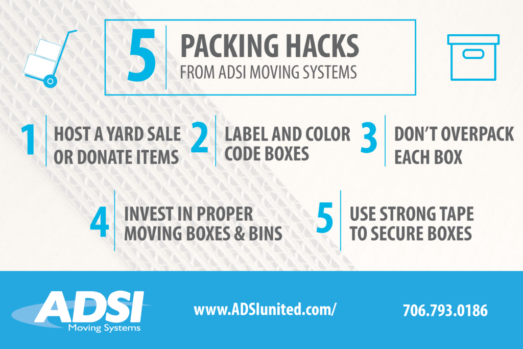 5 packing hacks from ADSI Moving Systems.
