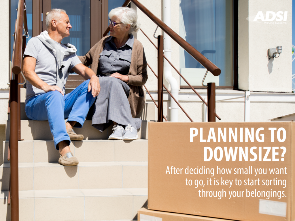 Planning to downsize? After deciding how small you want to go, it is key to start sorting through your belongings.