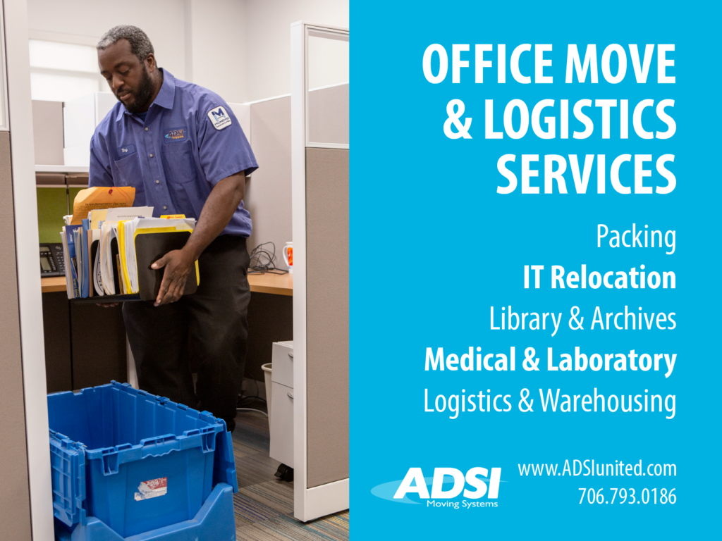 Office Move & Logistics Services Packing IT Relocation Library & Archives Medical & Laboratory Logistics & Warehousing