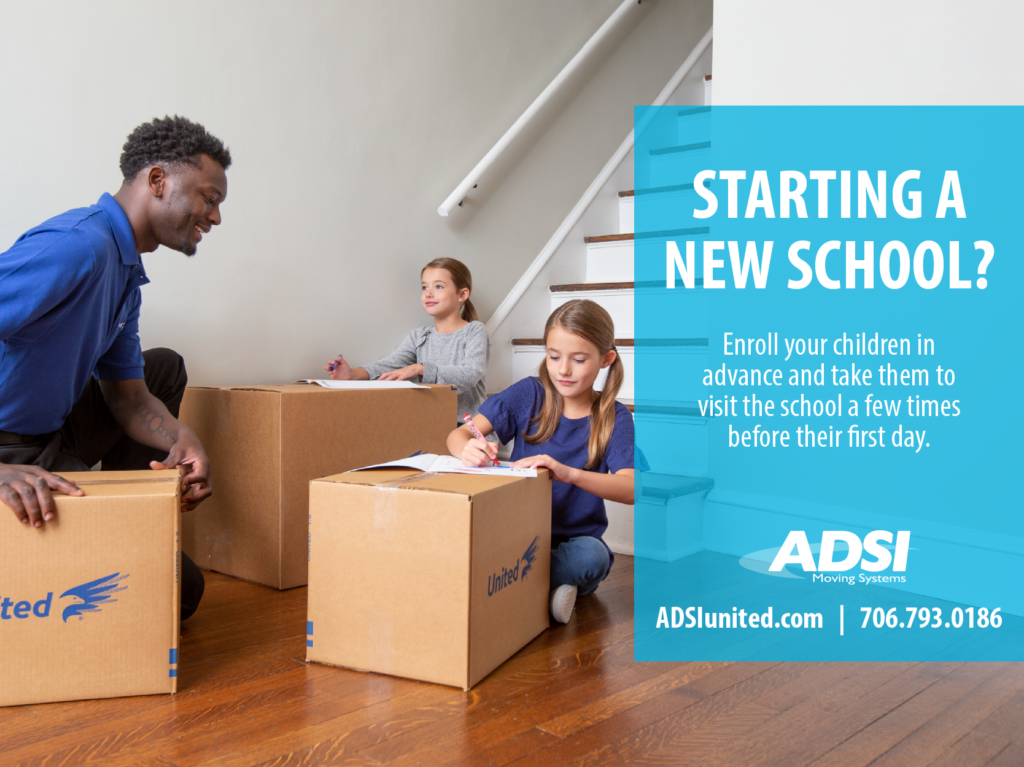 Starting a new school? Enroll your children in advance and take them to visit the school a few times before their first day.